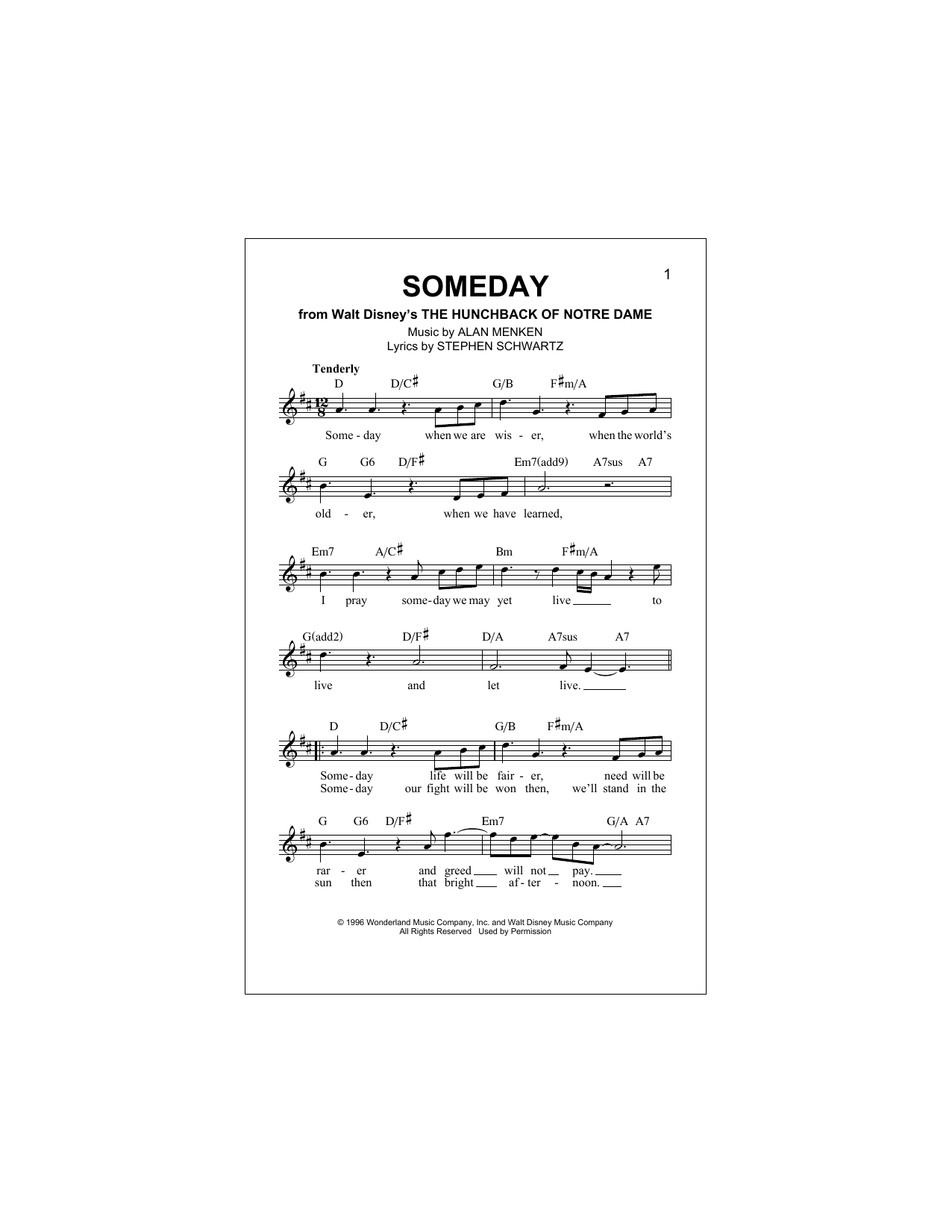 Someday Sheet Music