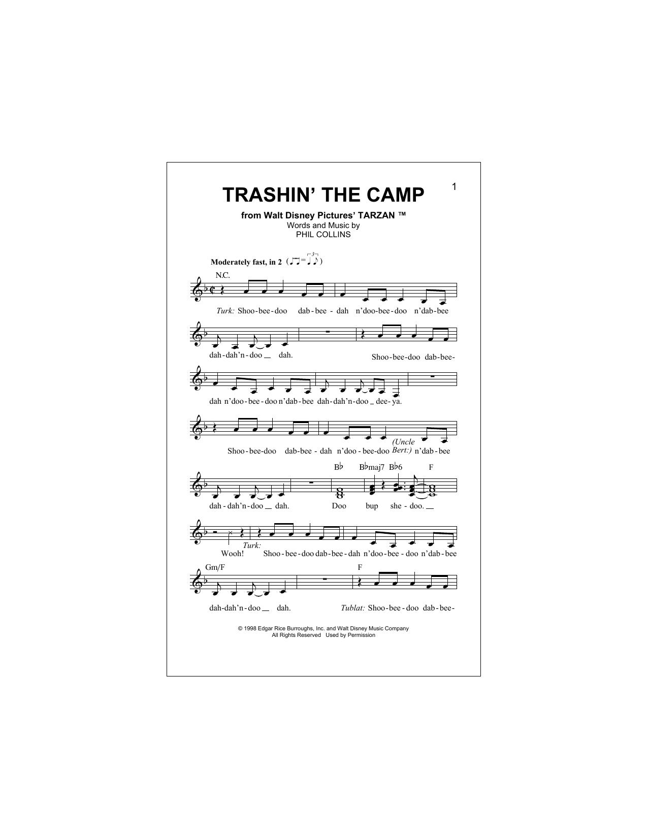 Trashin' The Camp (Pop Version) Sheet Music