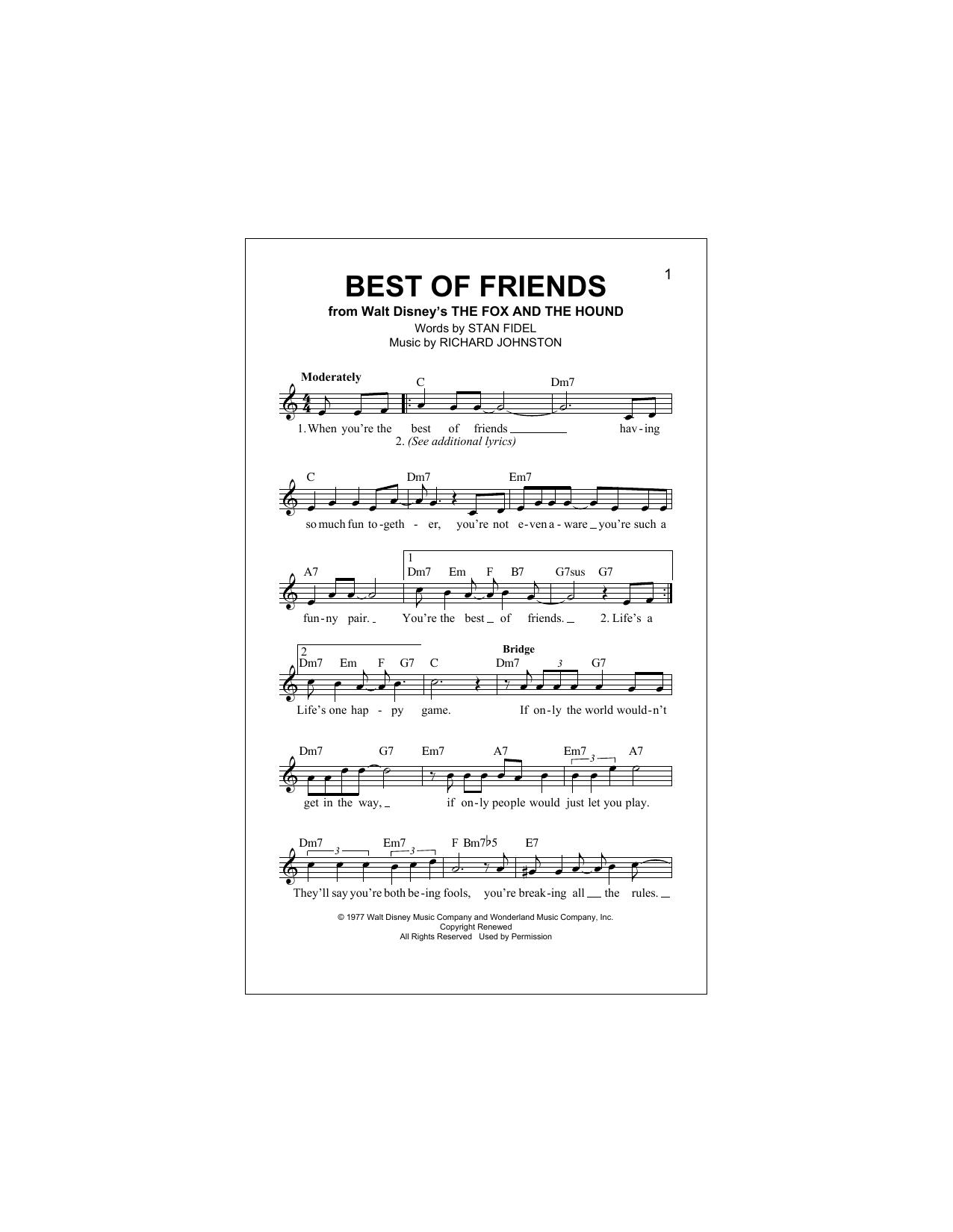 Best Of Friends Sheet Music