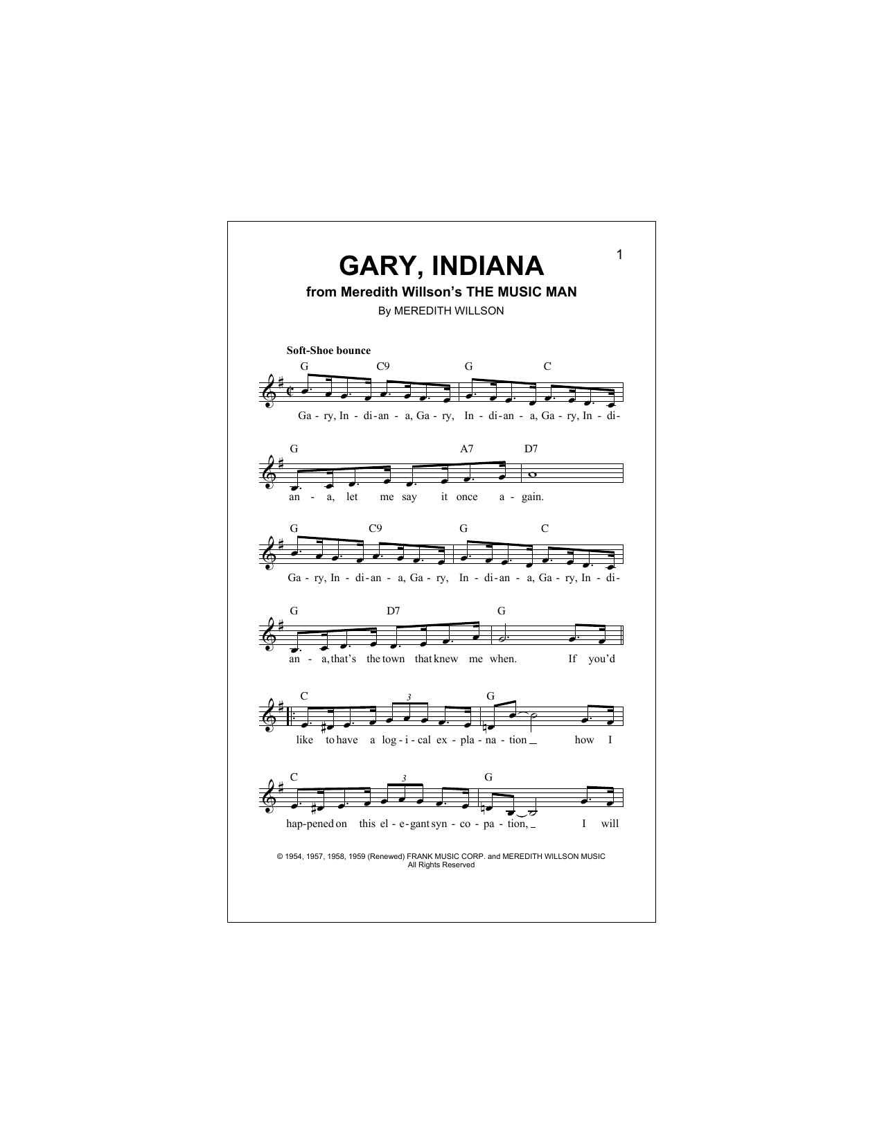 Gary, Indiana Sheet Music