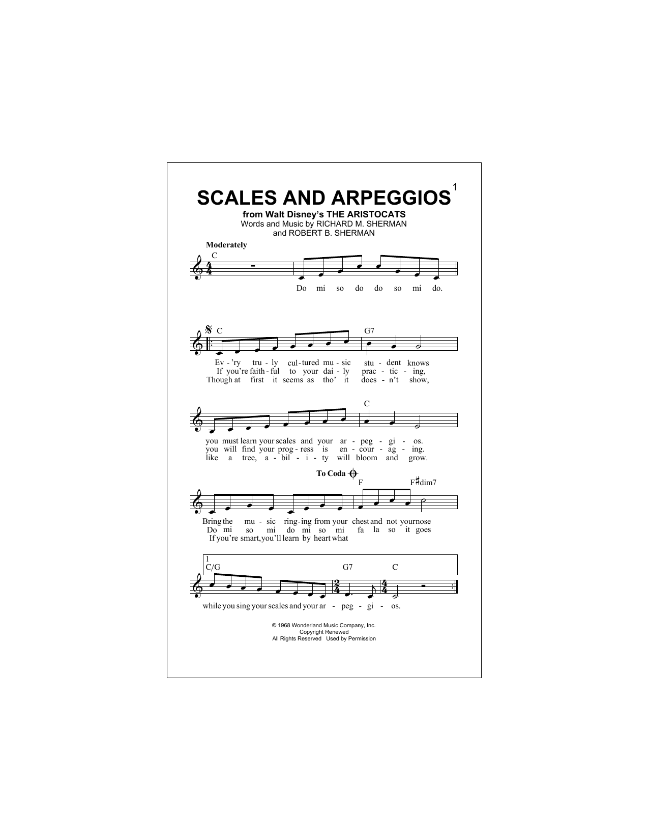 Scales And Arpeggios Sheet Music