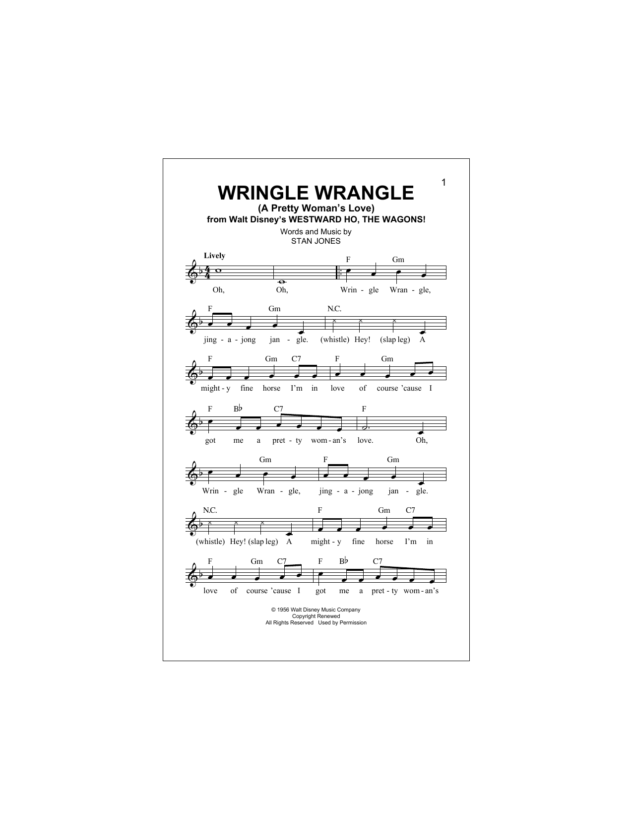 Wringle Wrangle Sheet Music