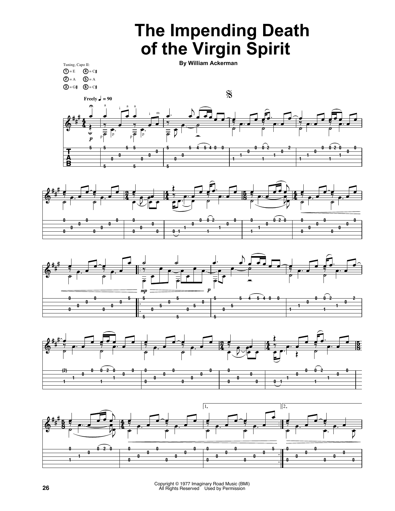 The Impending Death Of The Virgin Spirit (Guitar Tab)