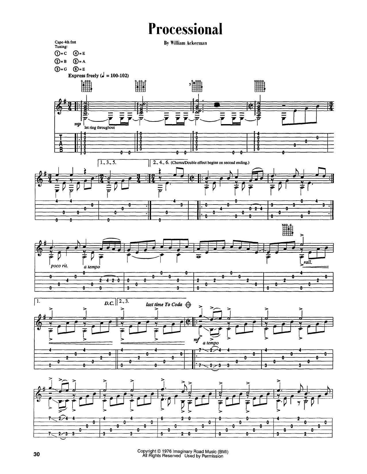 Processional (Guitar Tab)