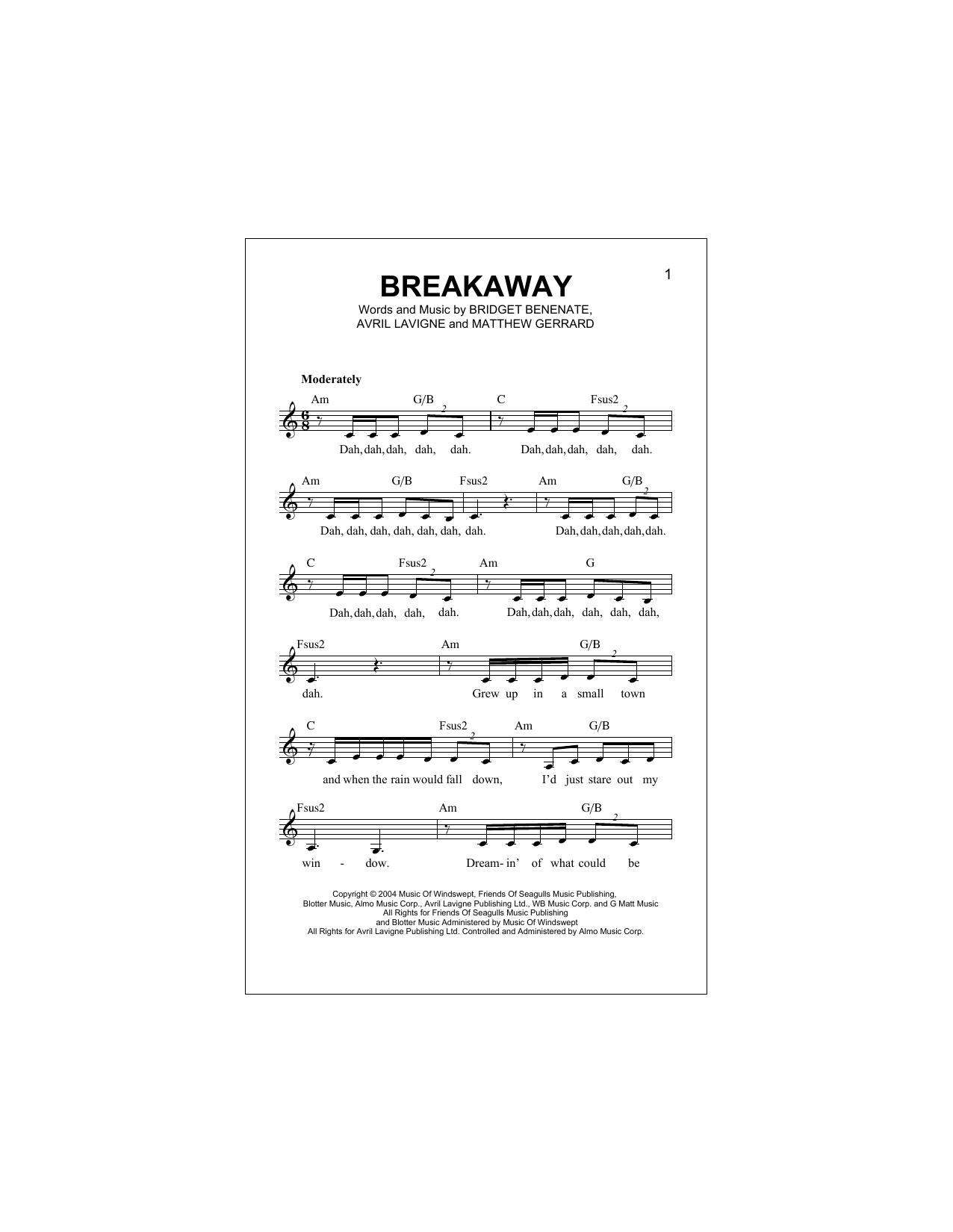 Breakaway (Lead Sheet / Fake Book)