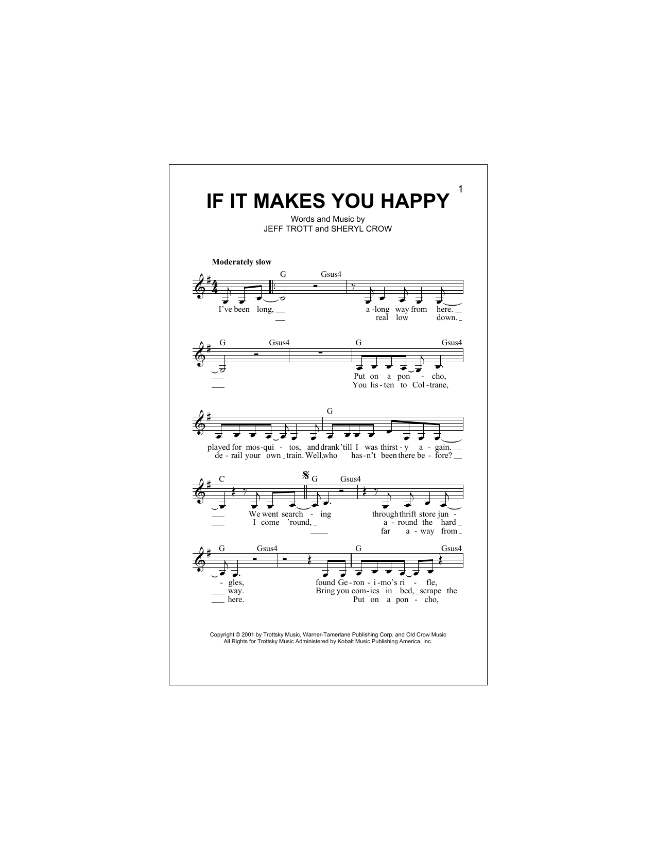 If It Makes You Happy (Lead Sheet / Fake Book)