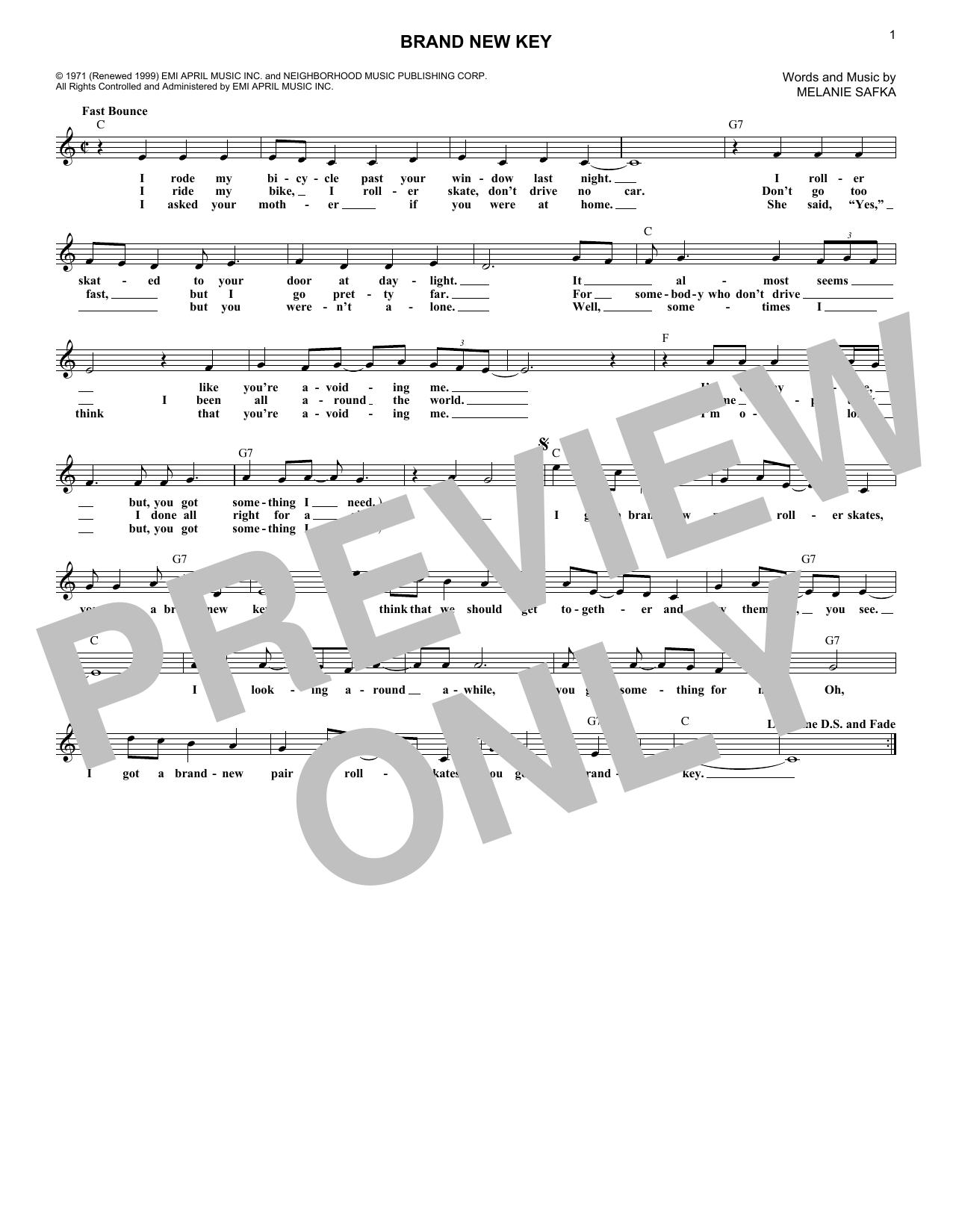 Brand New Key (Lead Sheet / Fake Book)