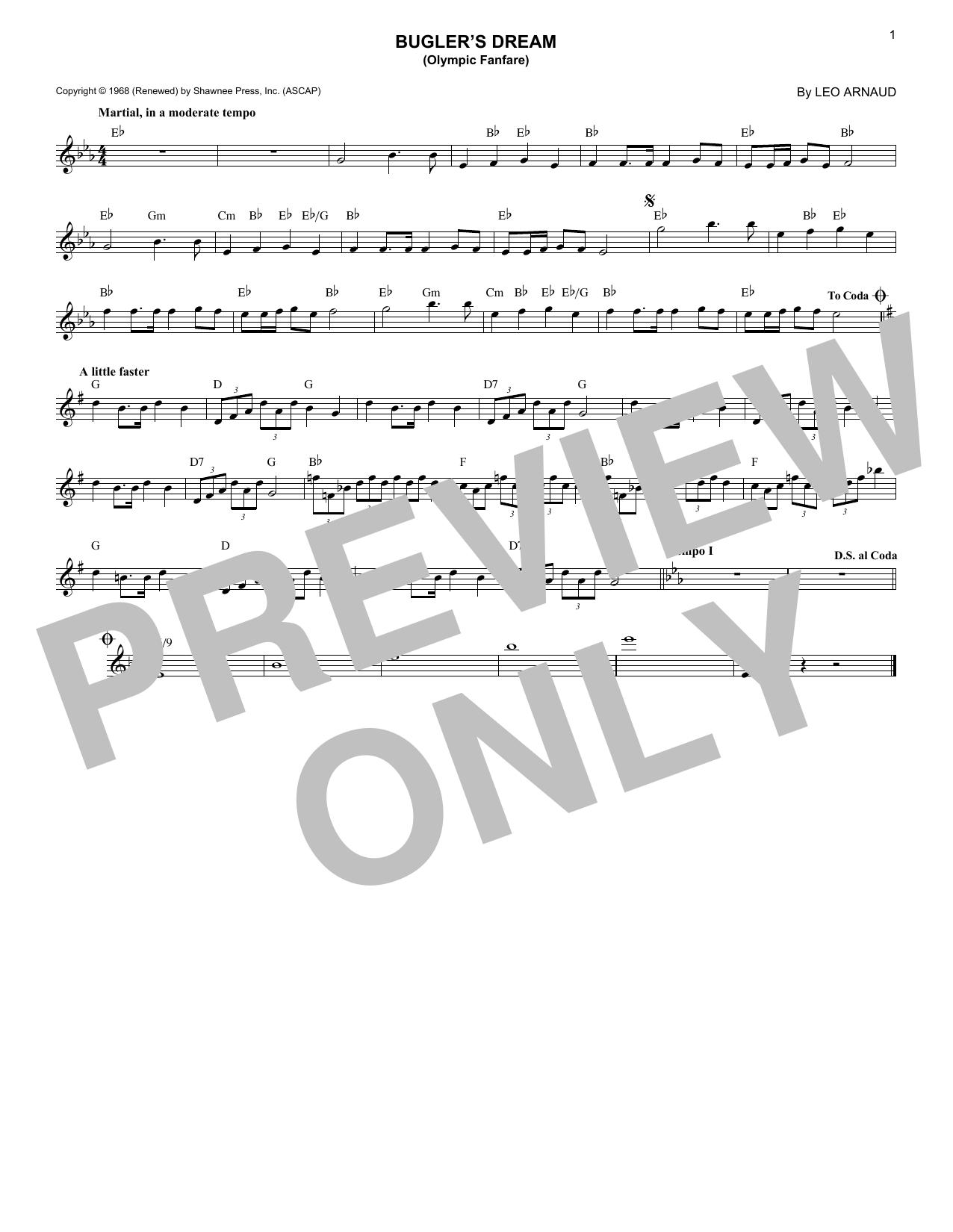 Bugler's Dream (Olympic Fanfare) (Lead Sheet / Fake Book)