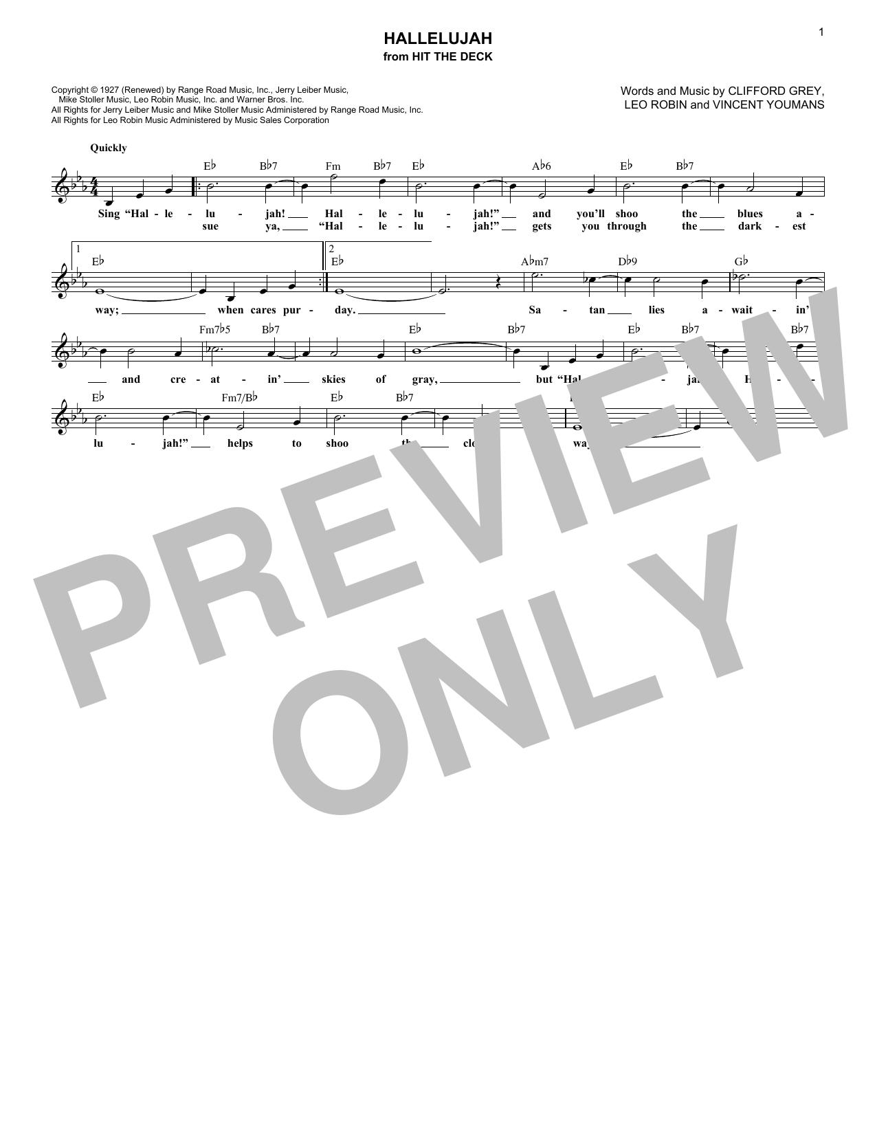Hallelujah (Lead Sheet / Fake Book)