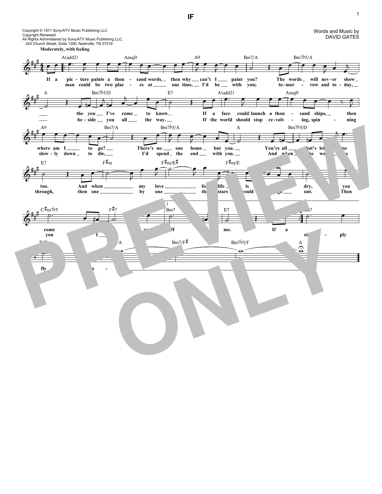 If (Lead Sheet / Fake Book)