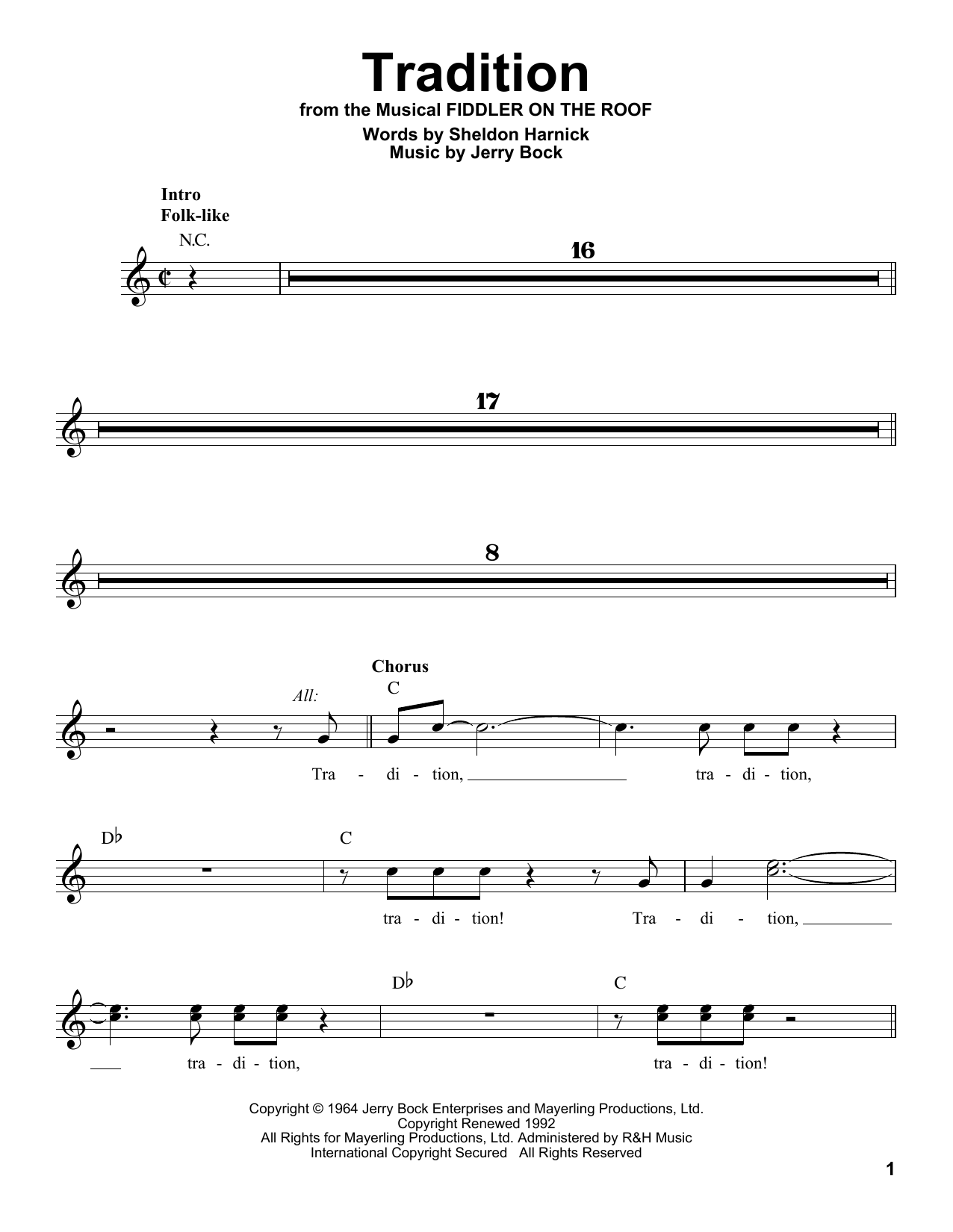 Tradition Sheet Music