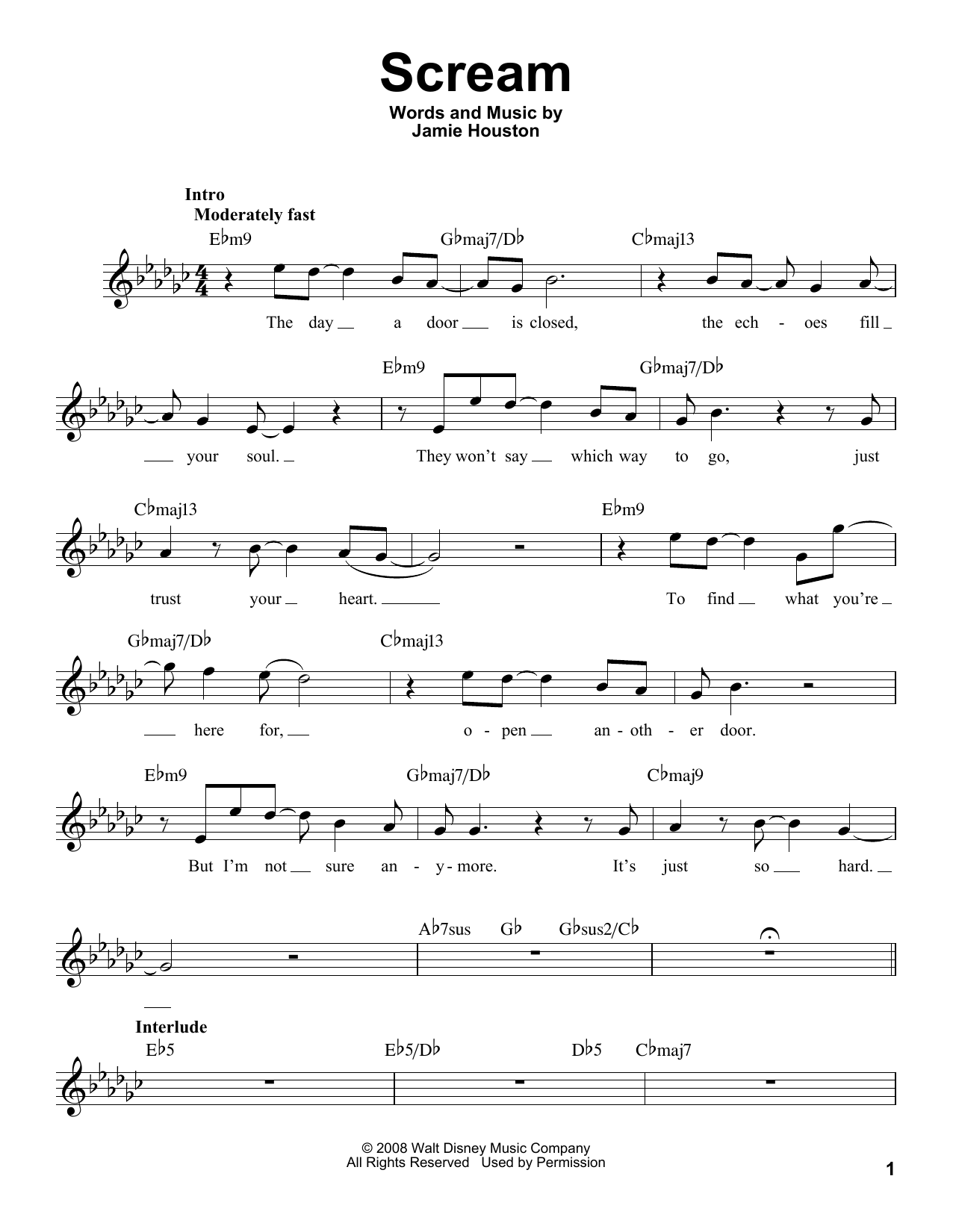 Scream Sheet Music