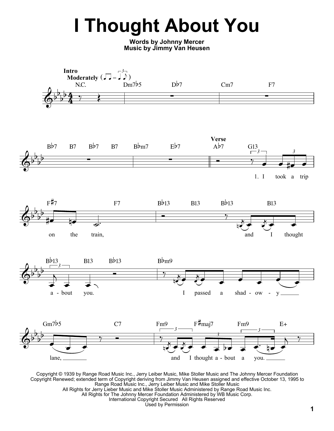 I Thought About You Sheet Music