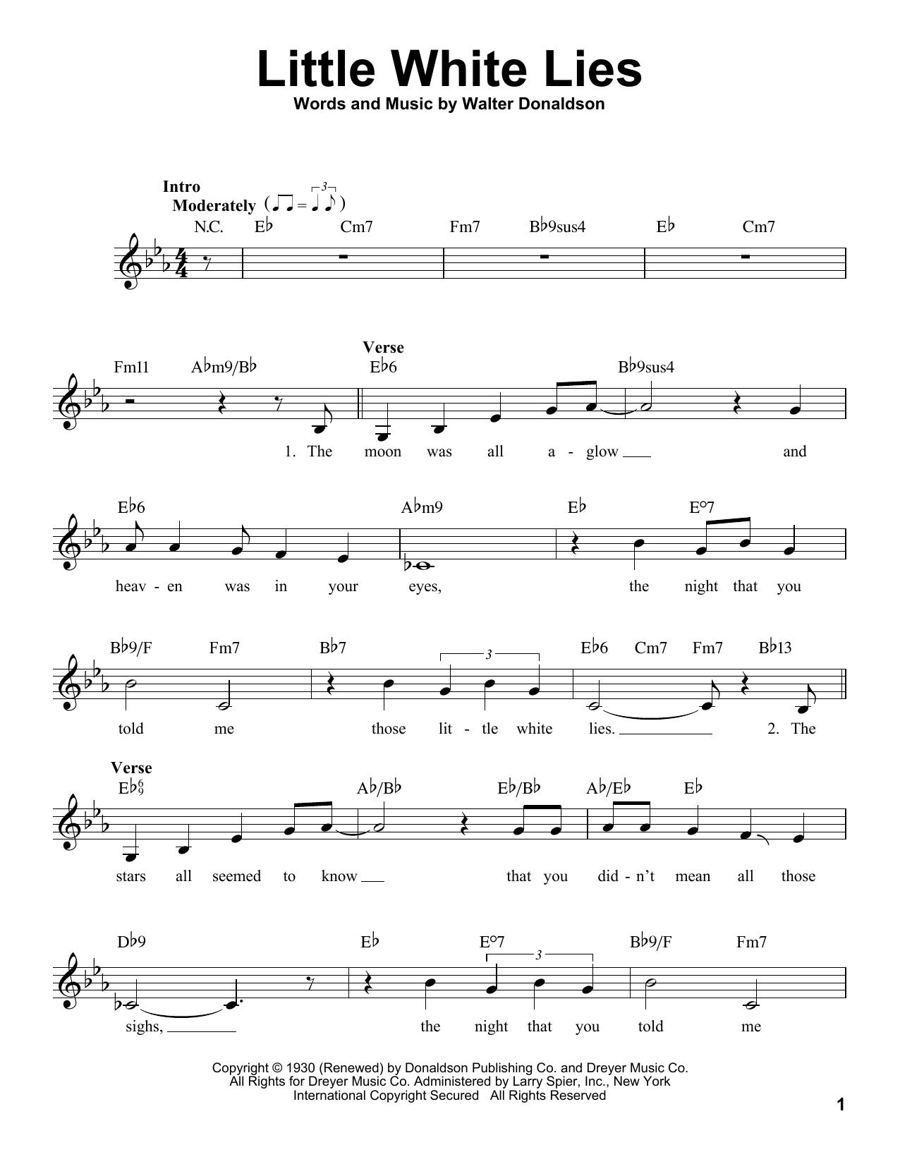 Little White Lies Sheet Music