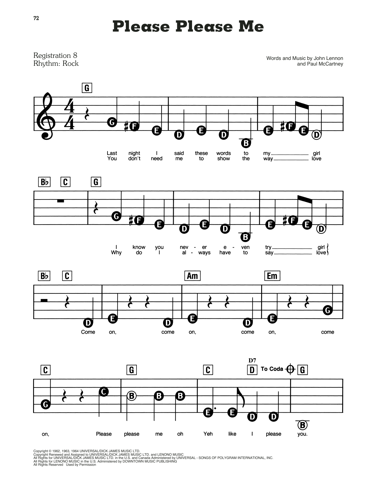 Please Please Me (E-Z Play Today)