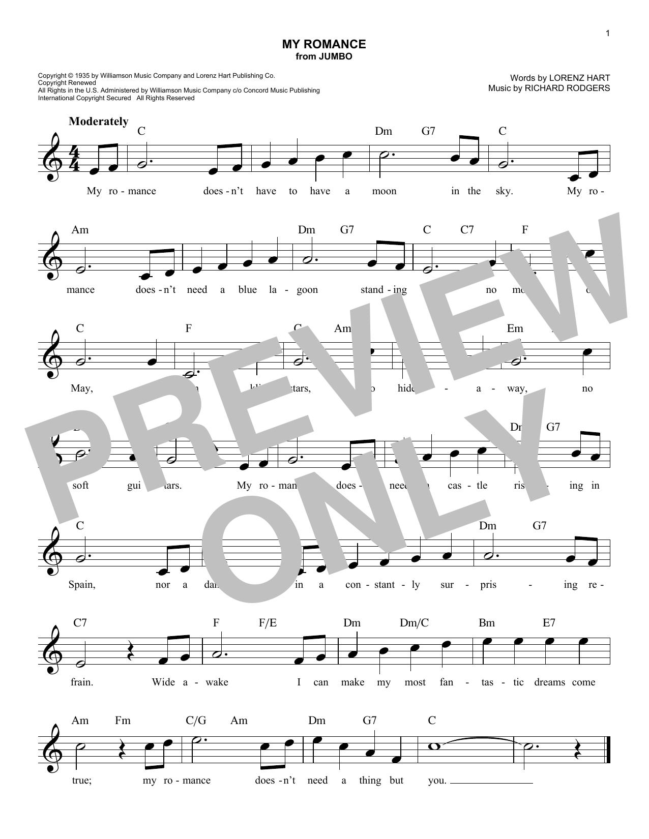 My Romance (from Jumbo) Sheet Music