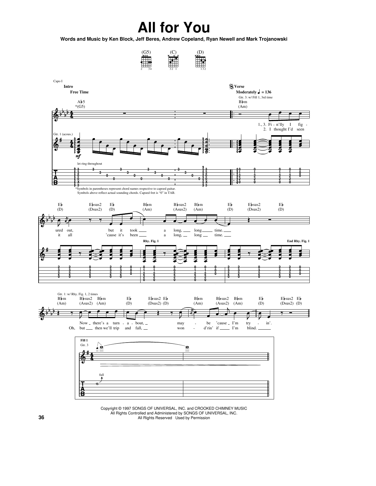 All For You (Guitar Tab)