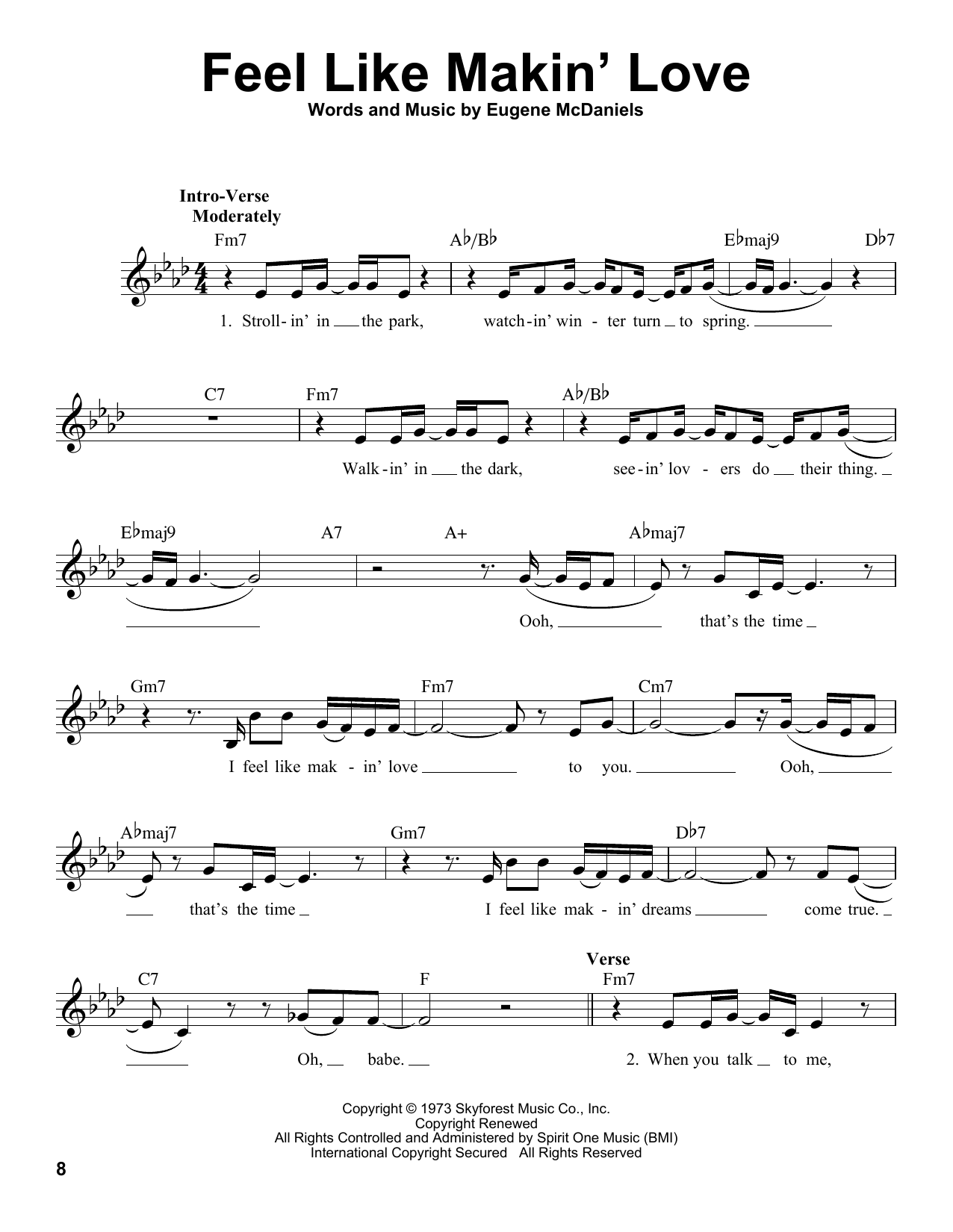 Feel Like Makin' Love Sheet Music