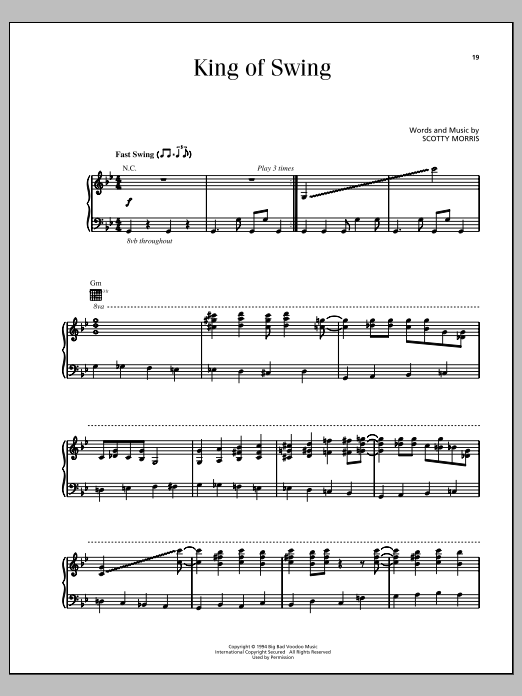 King Of Swing Sheet Music