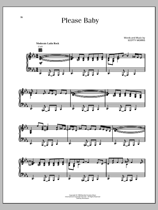 Please Baby Sheet Music
