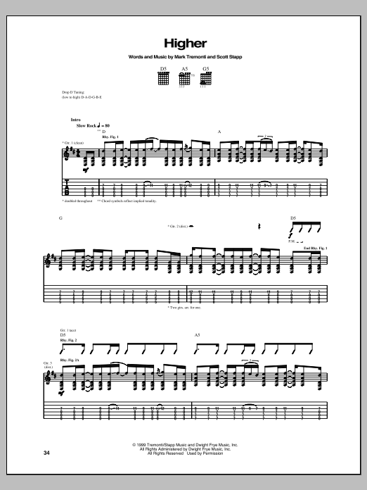 Higher Sheet Music
