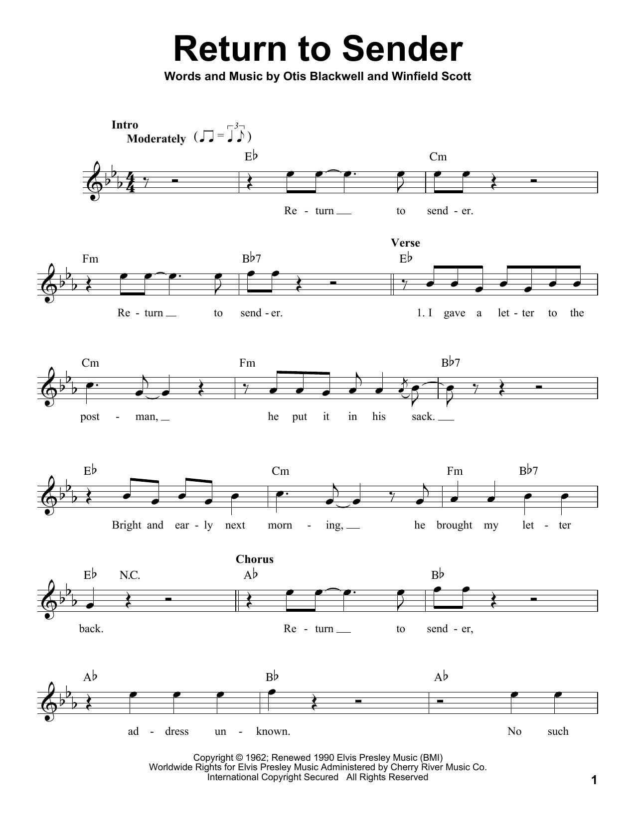 Return To Sender (Pro Vocal)