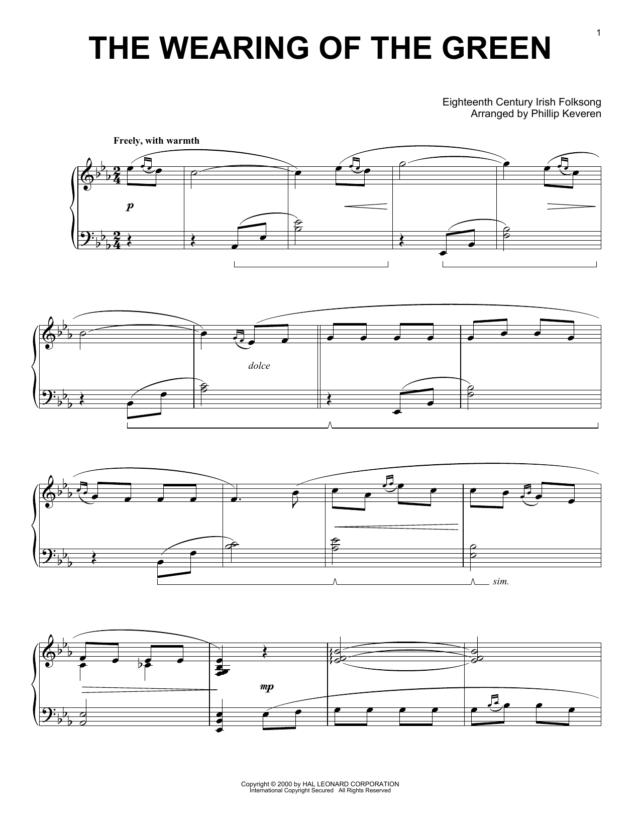 The Wearing Of The Green (arr. Phillip Keveren) (Piano Solo)