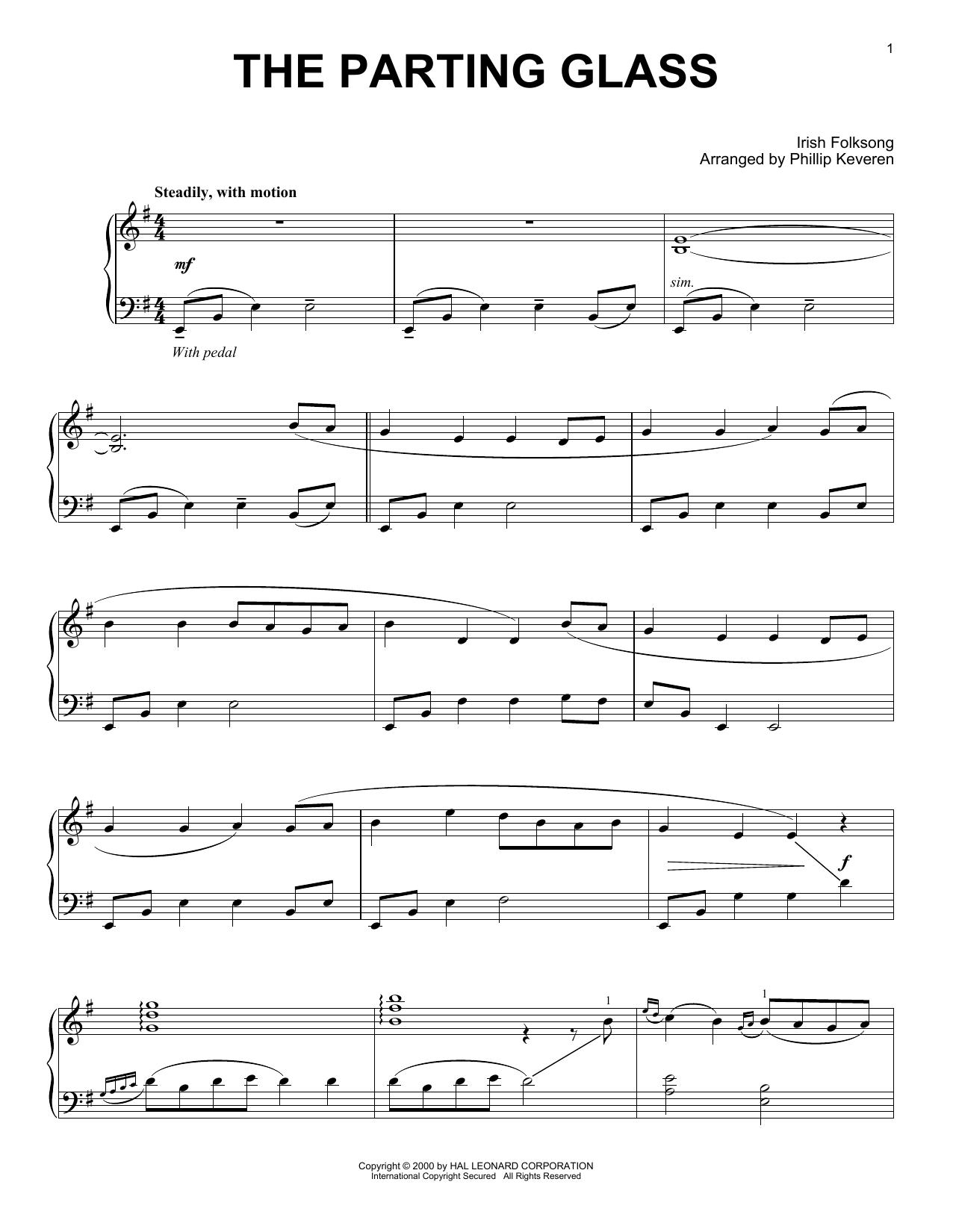 The Parting Glass (arr. Phillip Keveren) (Piano Solo)
