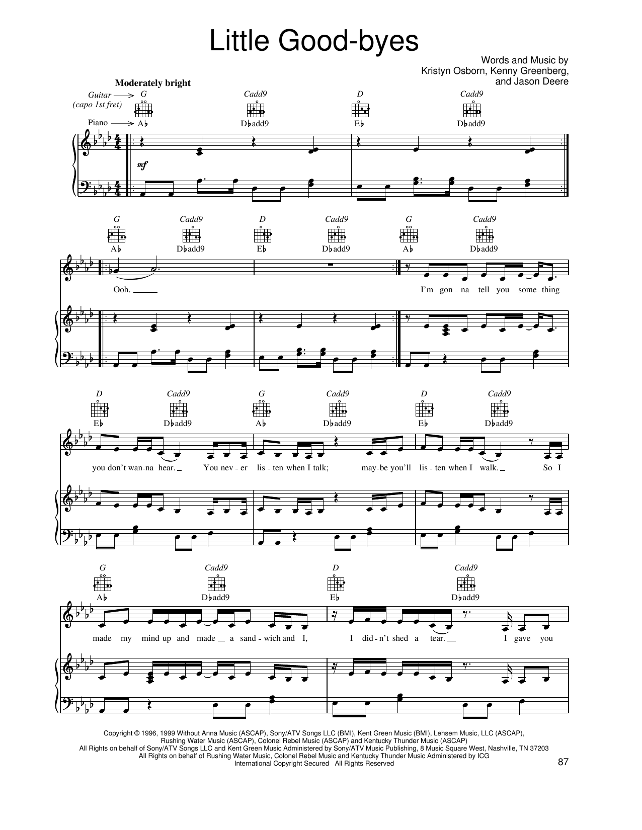 Little Good-byes Sheet Music