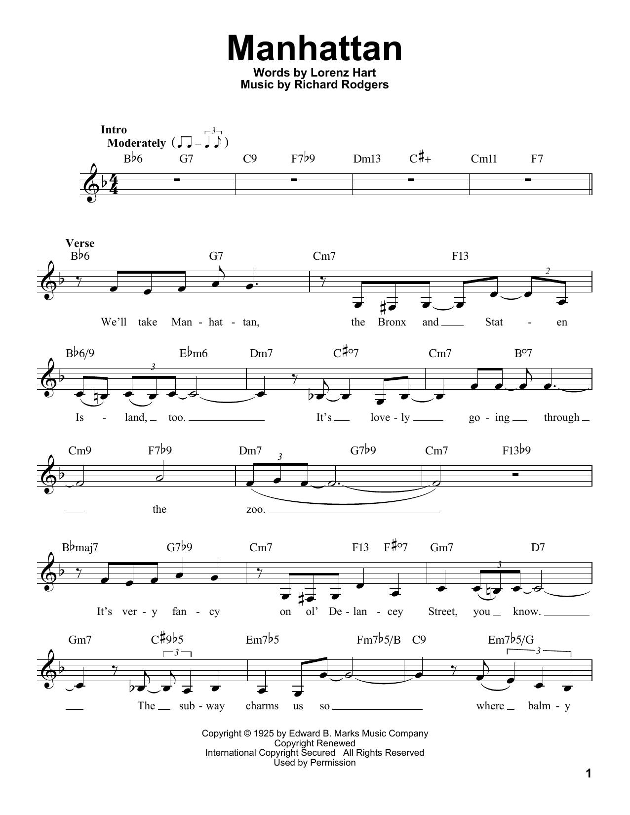 Manhattan Sheet Music