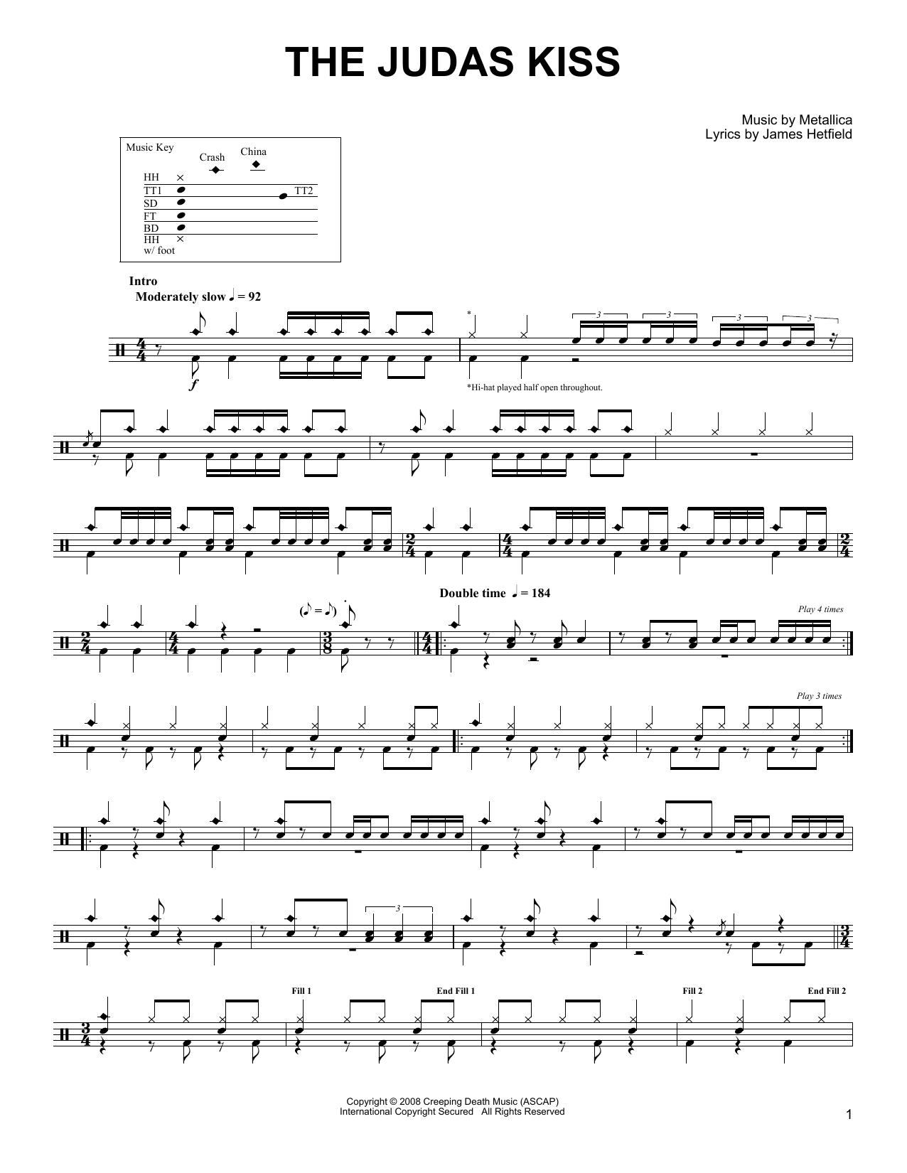 The Judas Kiss Sheet Music