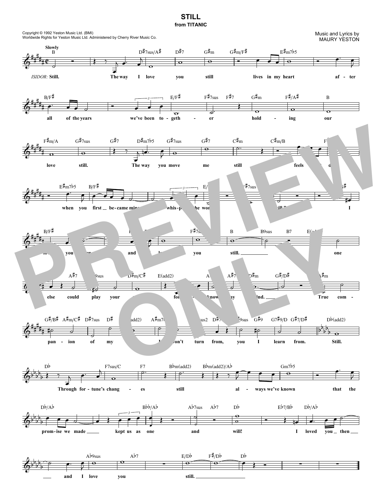Still chords by maury yeston melody line lyrics chords 181806 maury yeston still melody line lyrics chords hexwebz Image collections