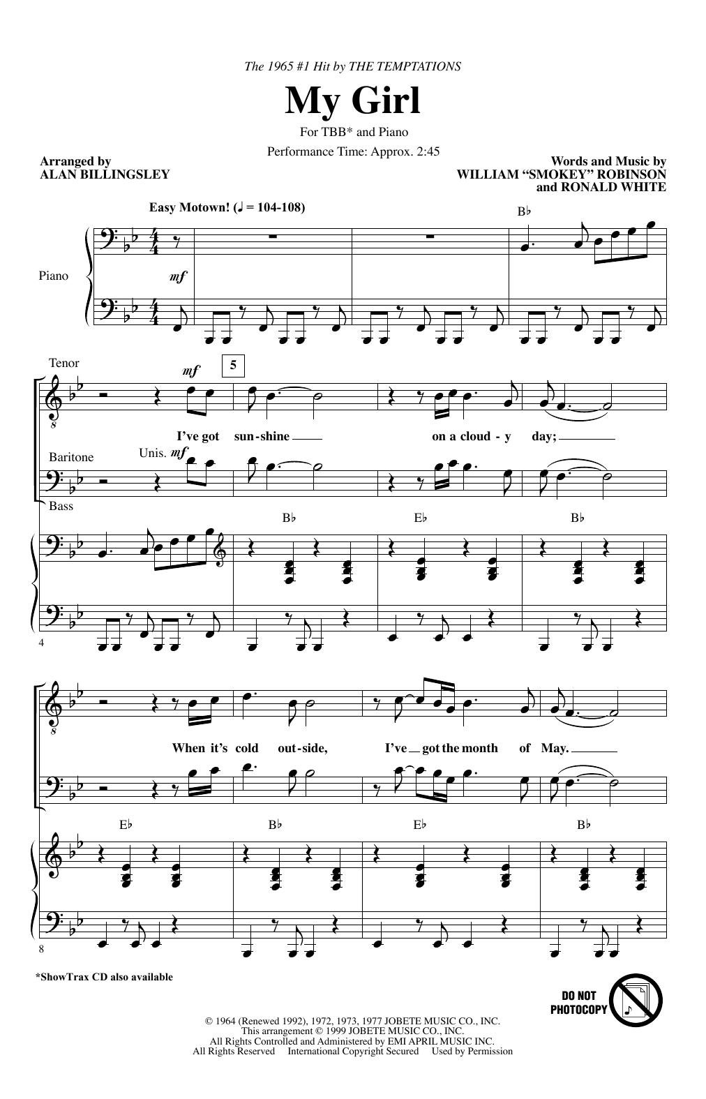 My Girl (arr. Alan Billingsley) Sheet Music