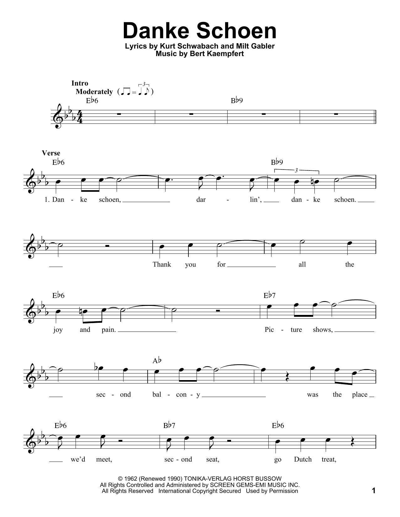 Danke Schoen Sheet Music