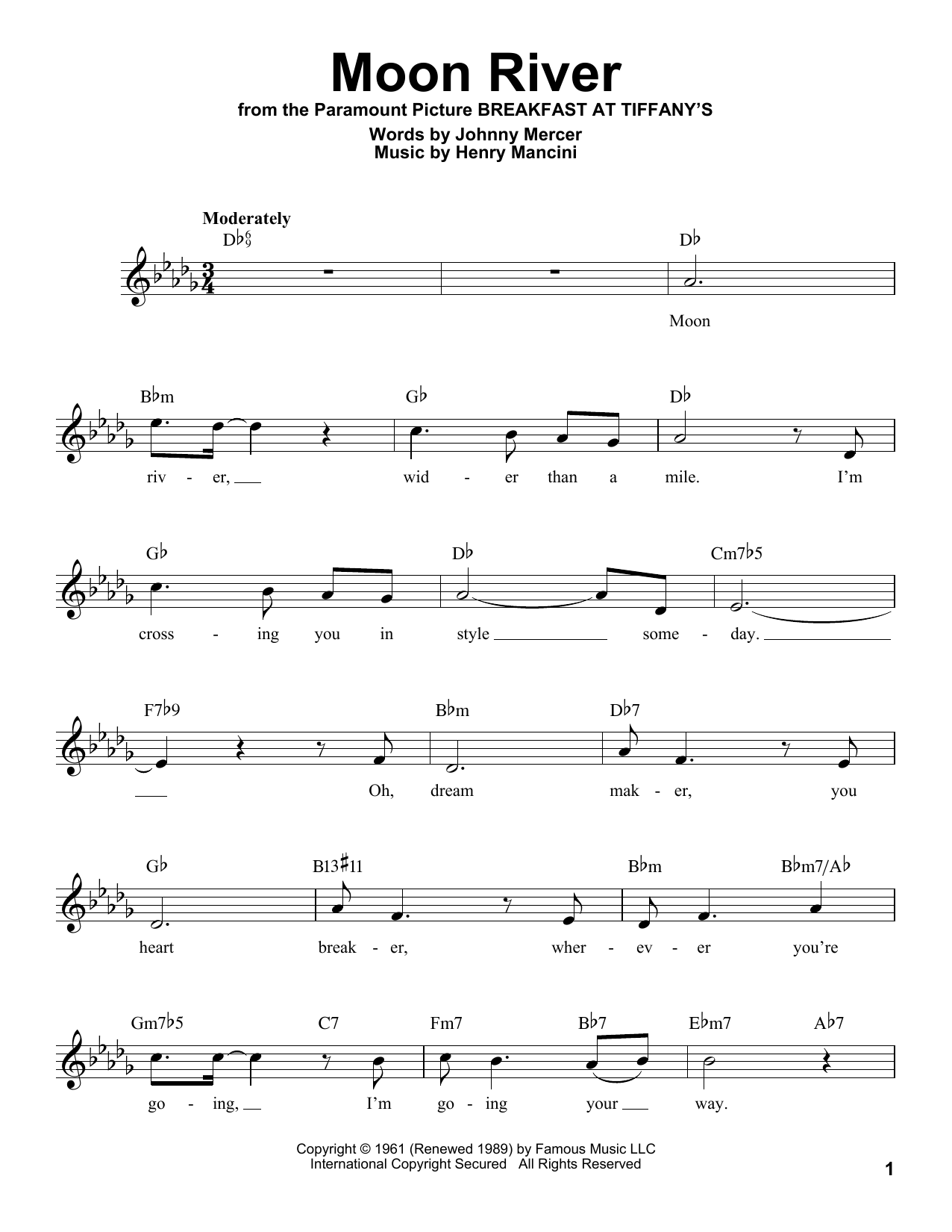 Moon River (Pro Vocal)