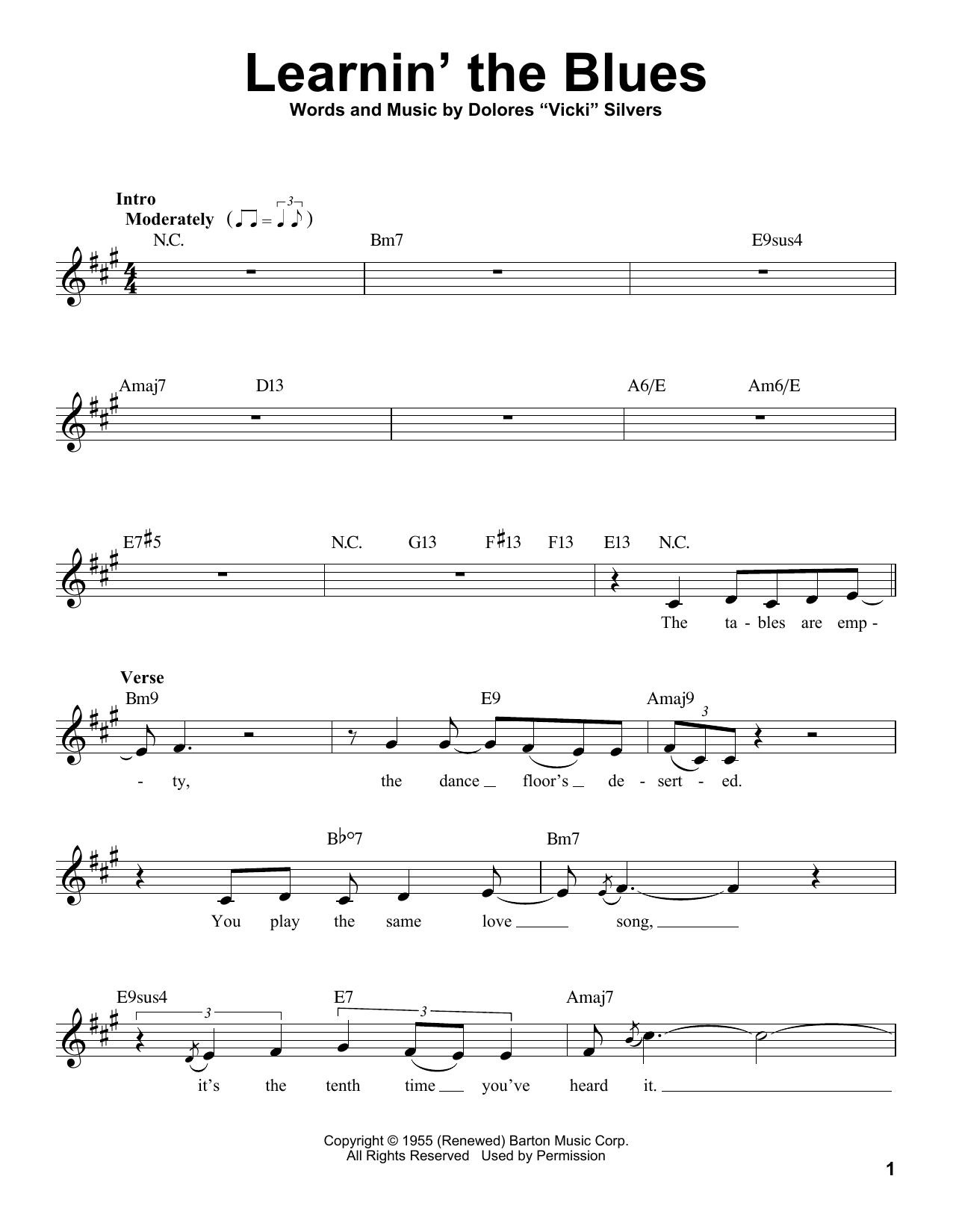 Learnin' The Blues Sheet Music
