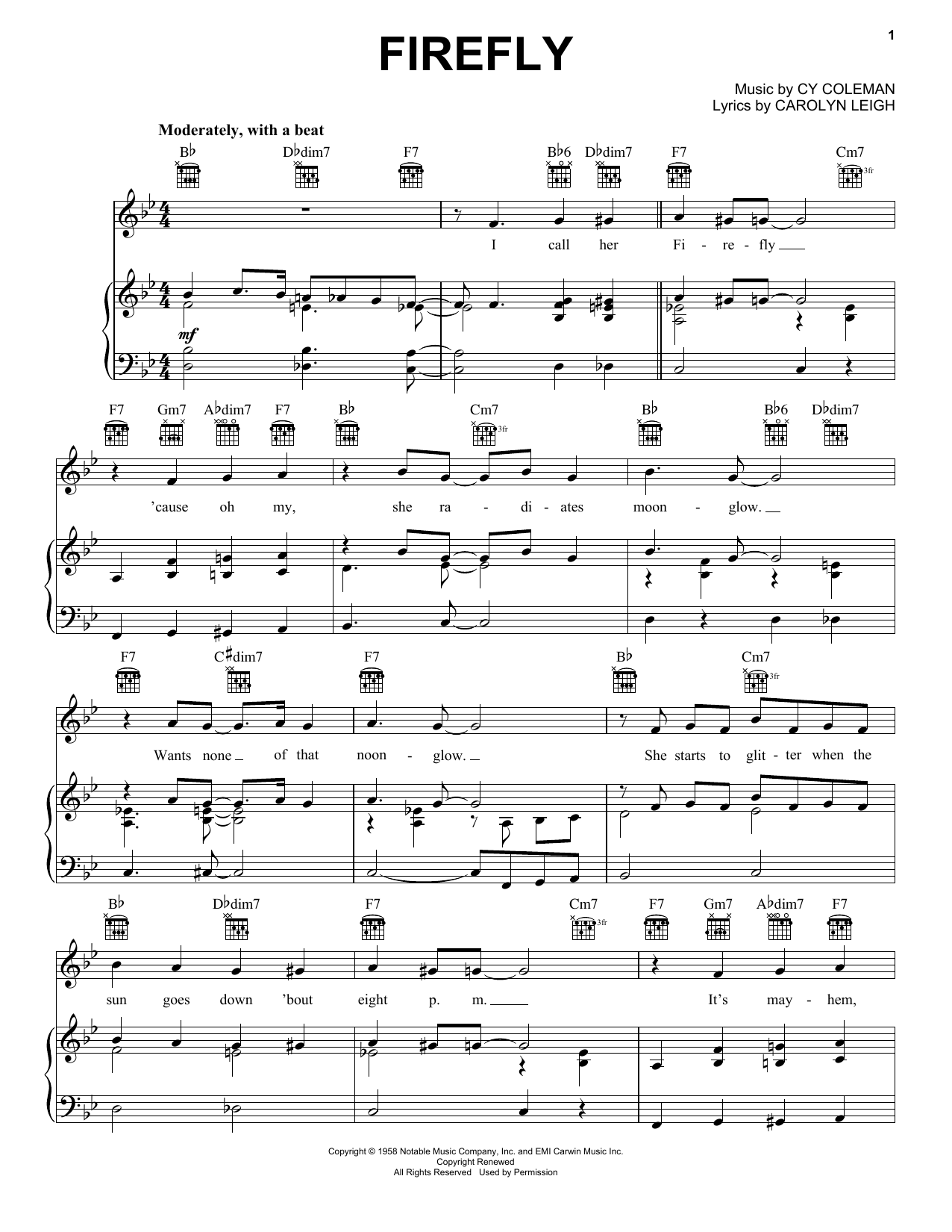 Firefly (Piano, Vocal & Guitar (Right-Hand Melody))