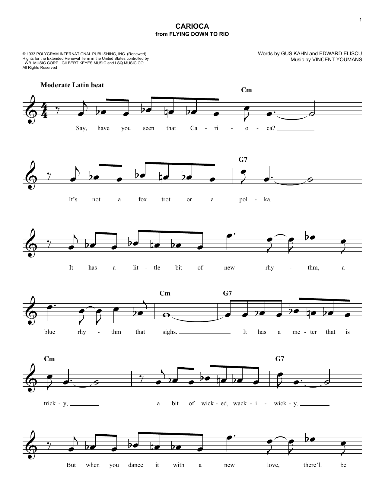 The Carioca Sheet Music