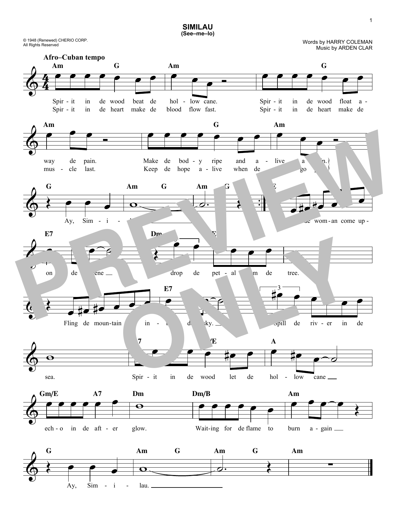 Similau see me lo chords by peggy lee melody line lyrics similau see me lo sheet music hexwebz Image collections
