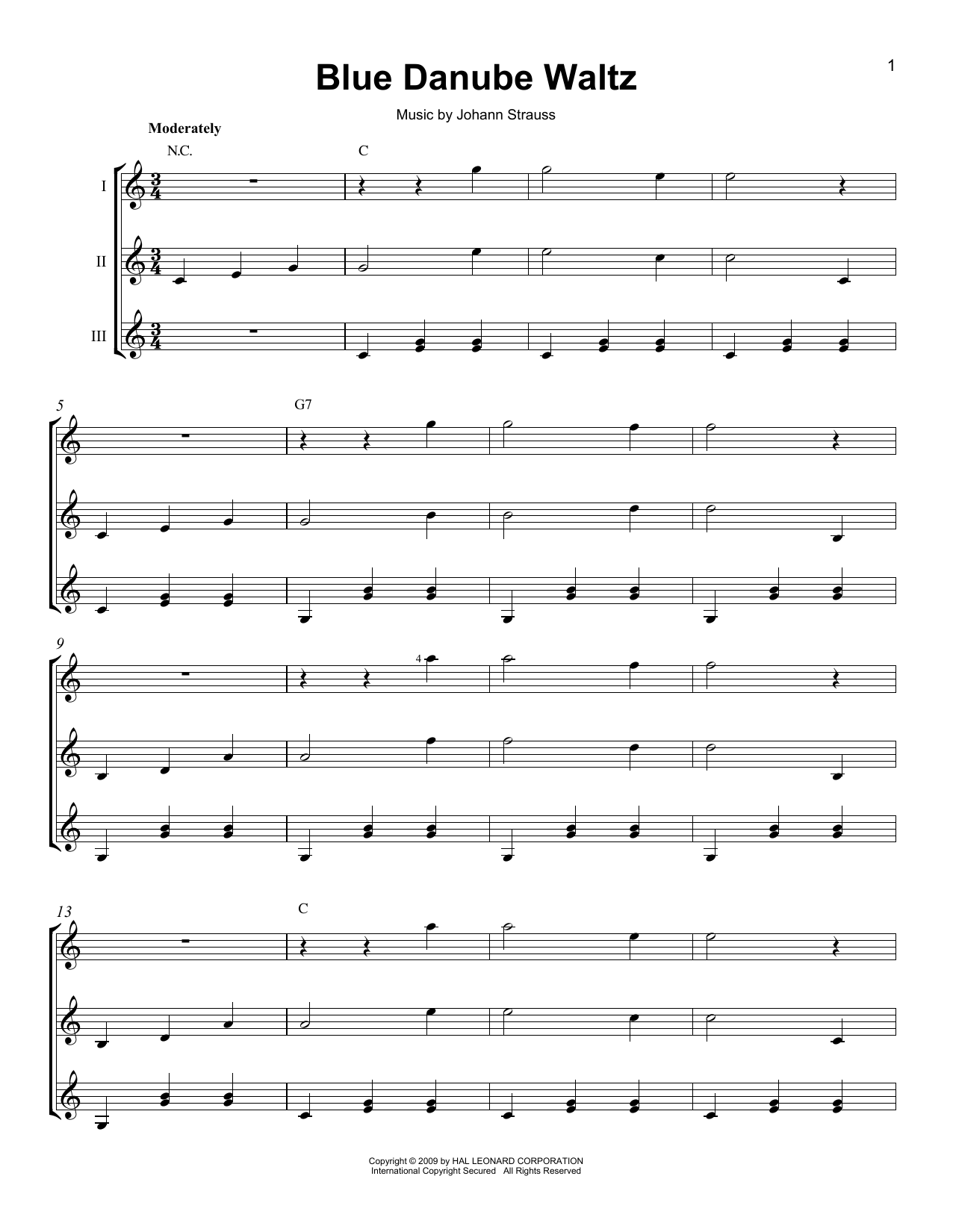 Blue Danube Waltz Sheet Music
