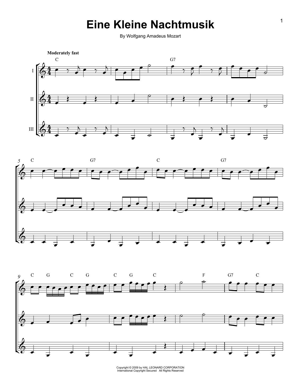 page one of Eine Kleine NachtmusikASALTTEXT