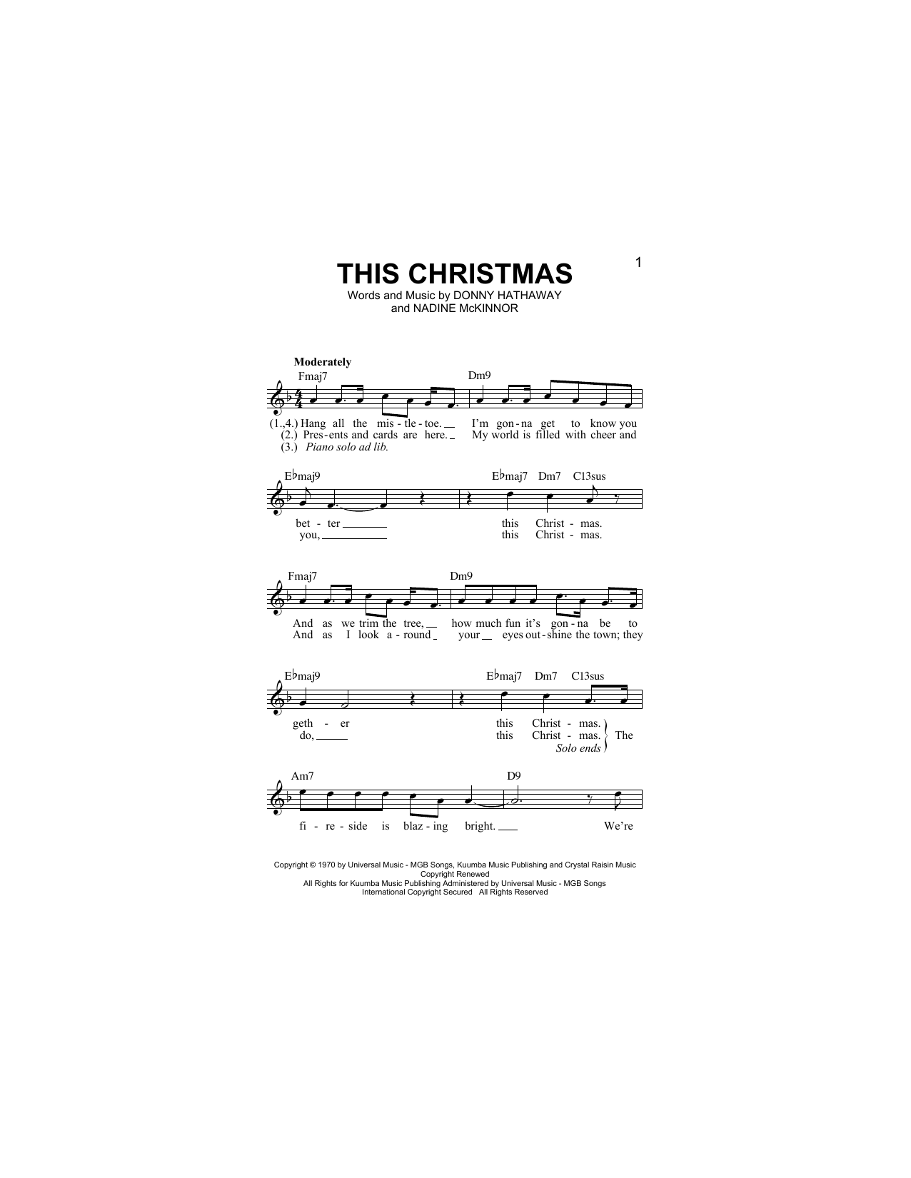 This Christmas Digitale Noten