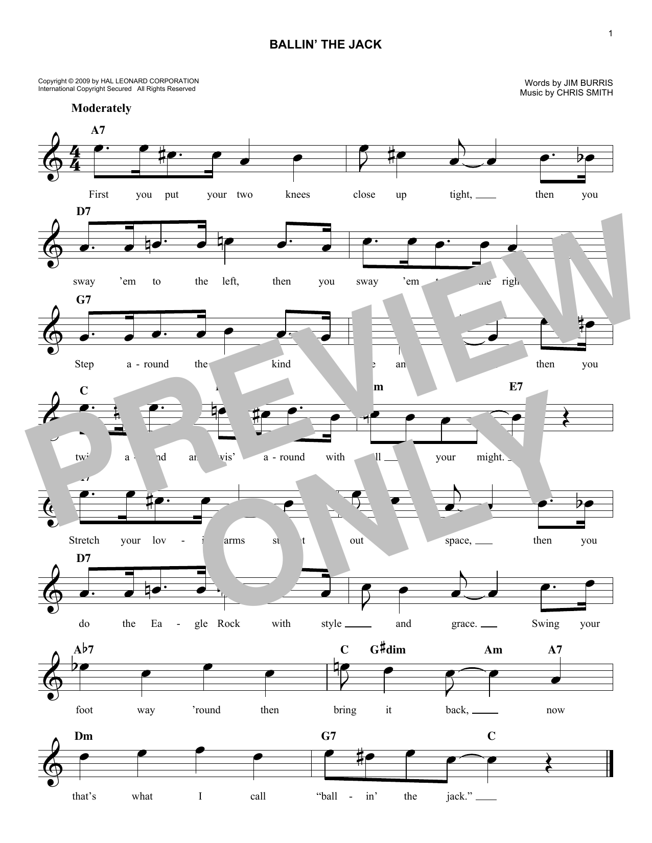 Ballin' The Jack Sheet Music
