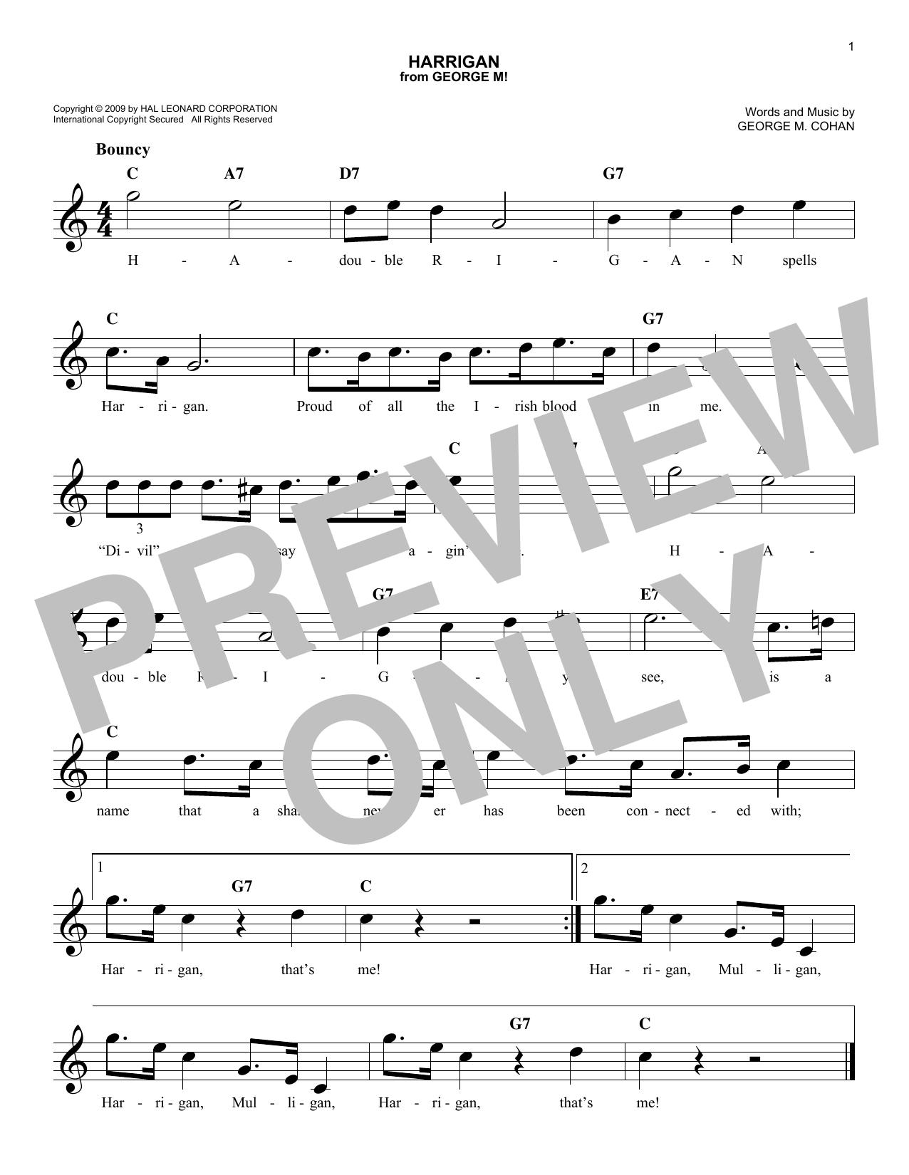 Harrigan Sheet Music