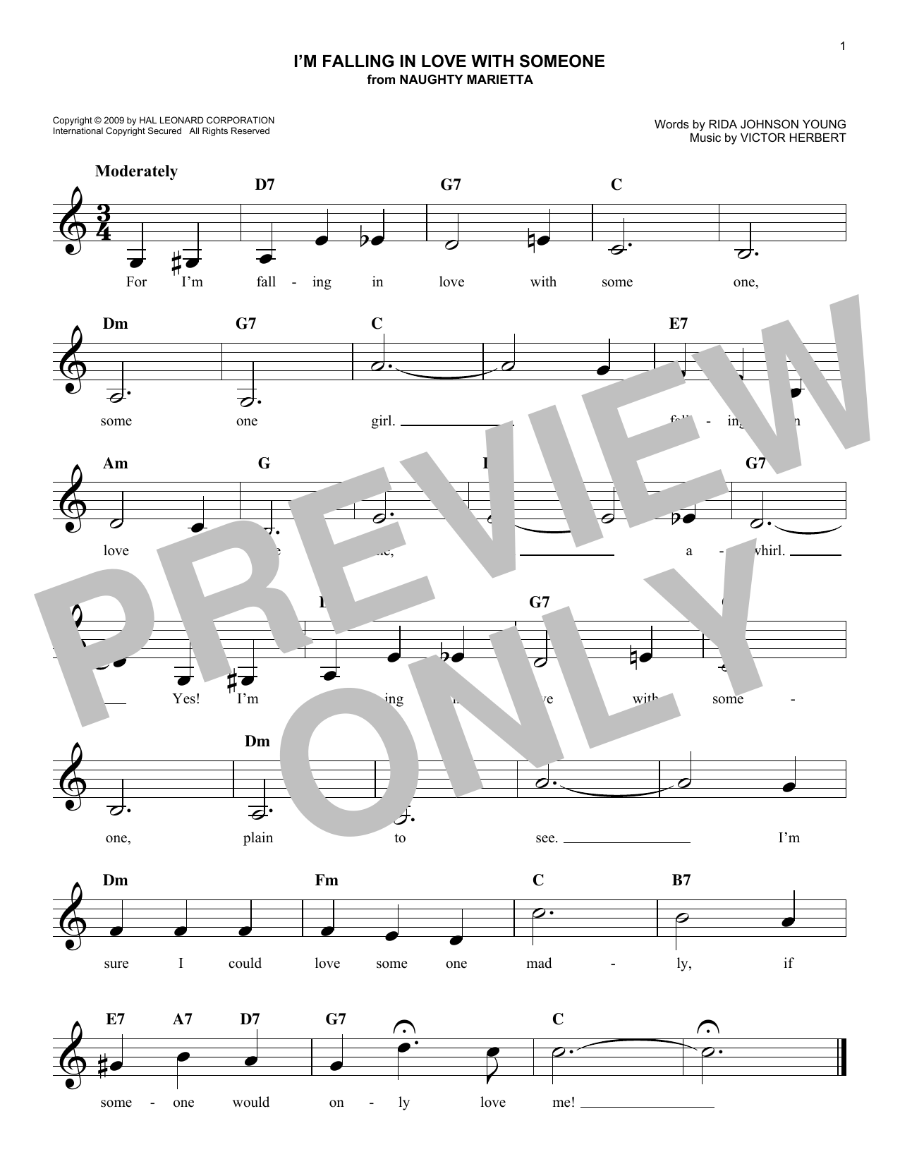 I'm Falling In Love With Someone Sheet Music
