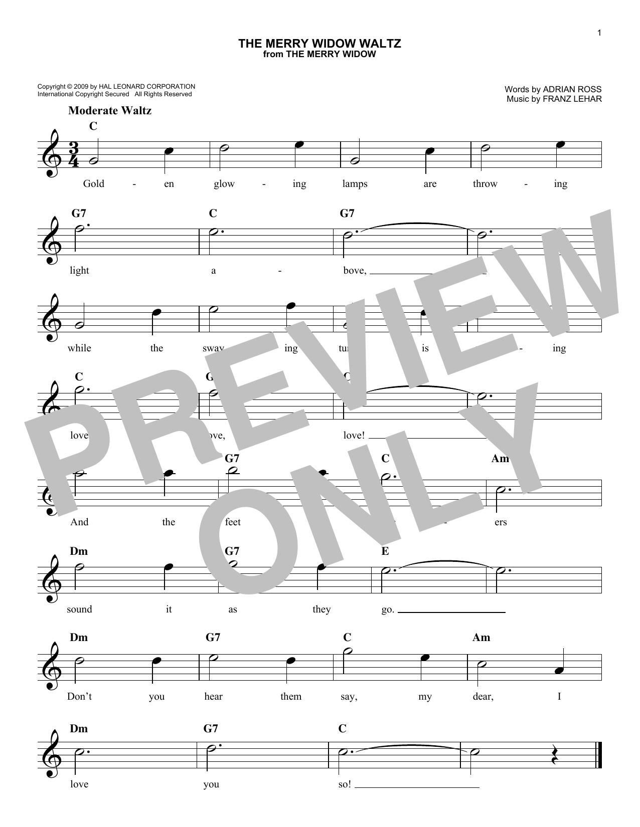 The Merry Widow Waltz Sheet Music