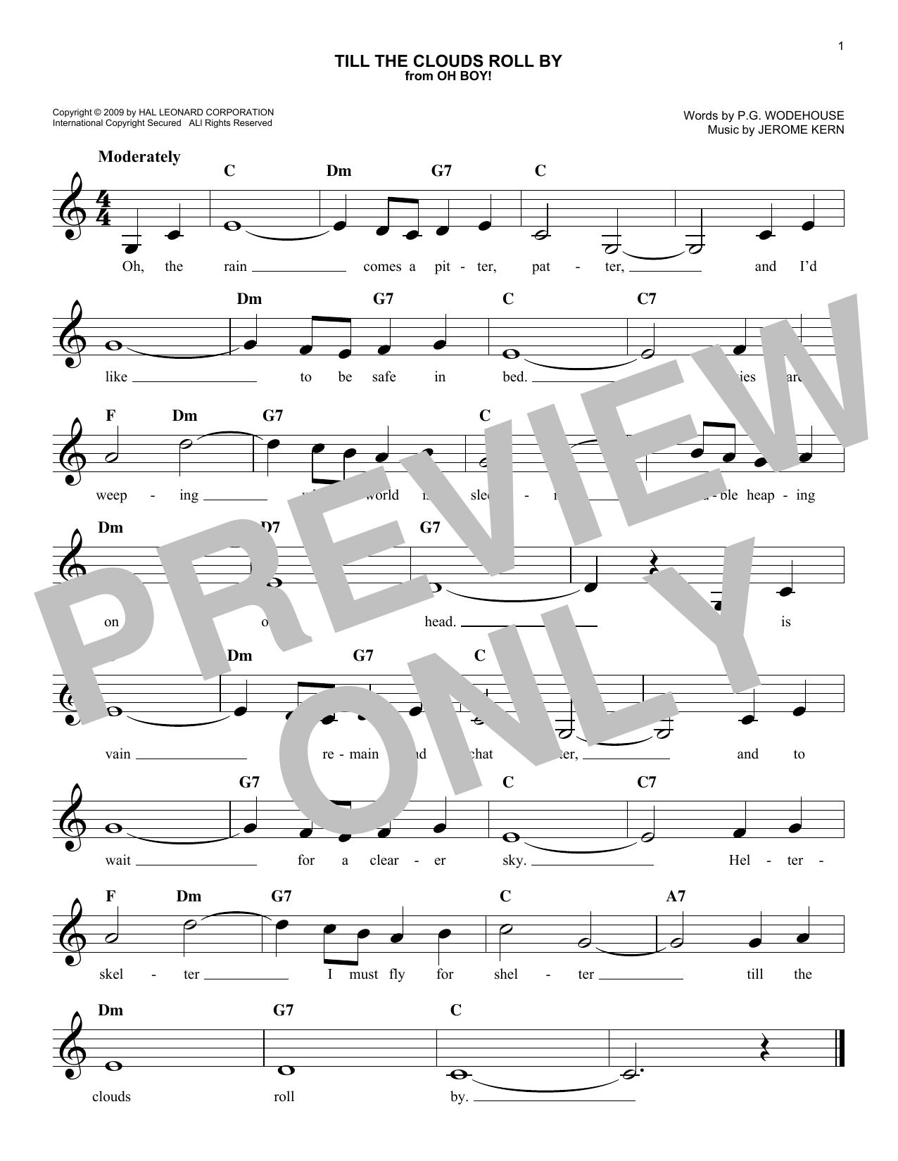 Till The Clouds Roll By Sheet Music