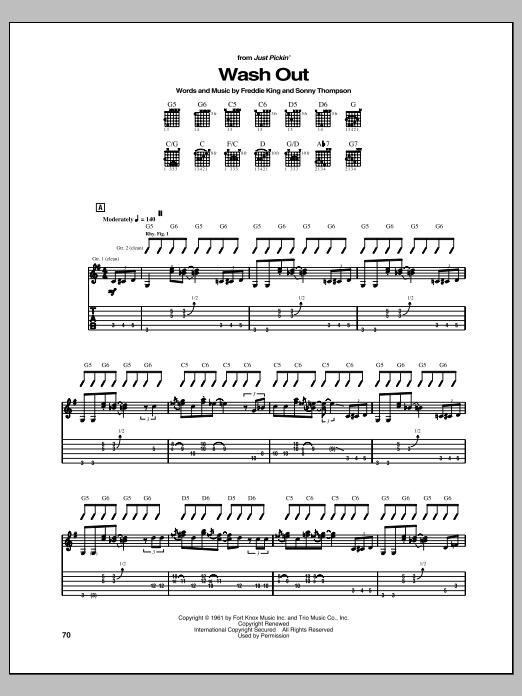 Wash Out Sheet Music