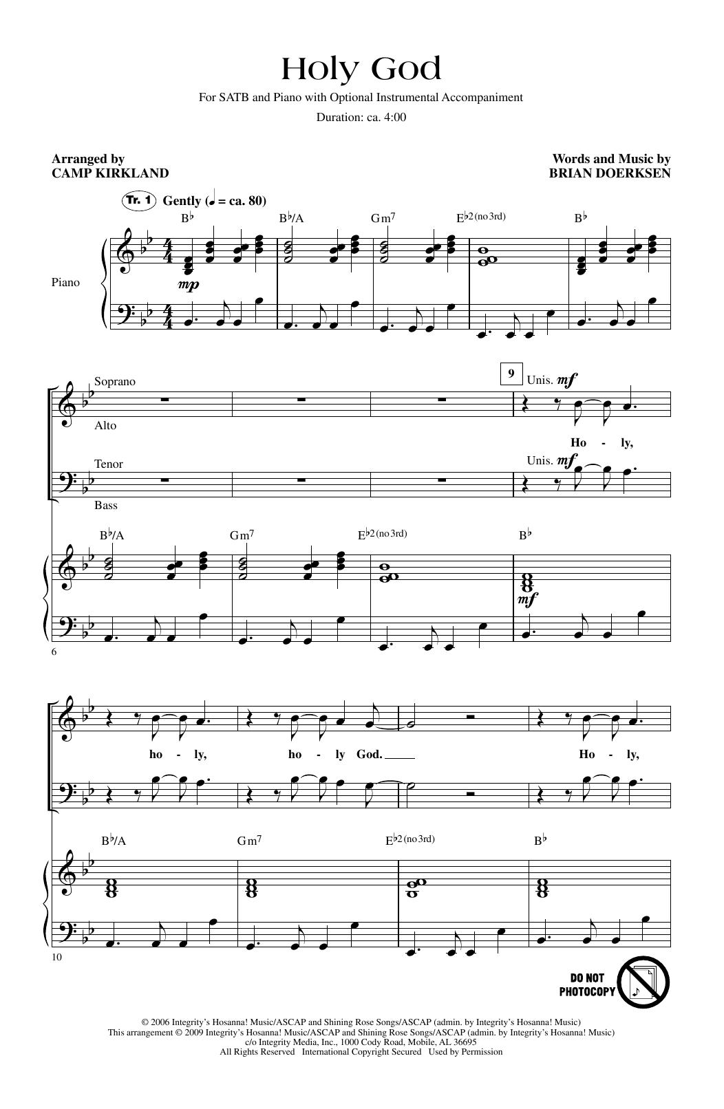 Holy God (arr. Camp Kirkland) (SATB Choir)