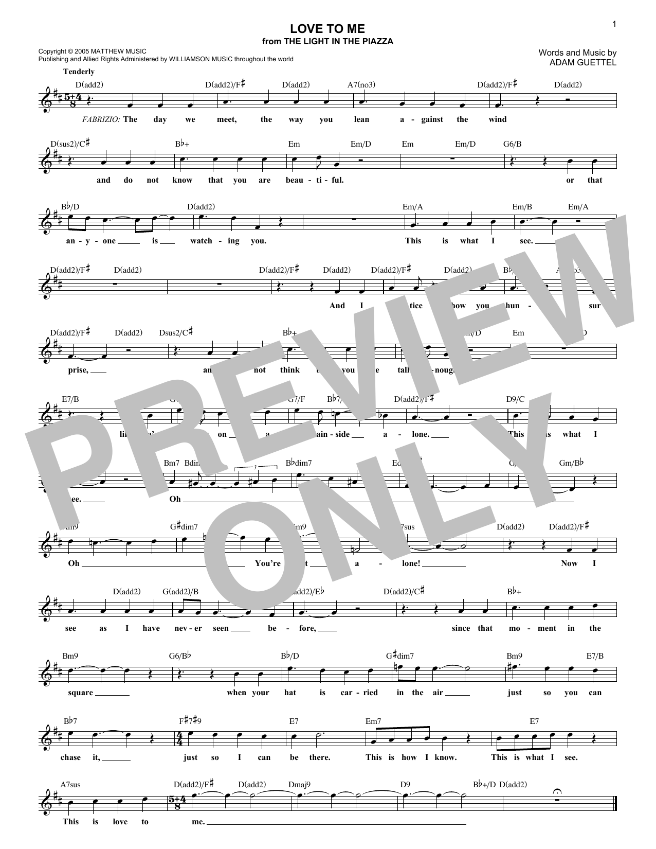 Love To Me Sheet Music
